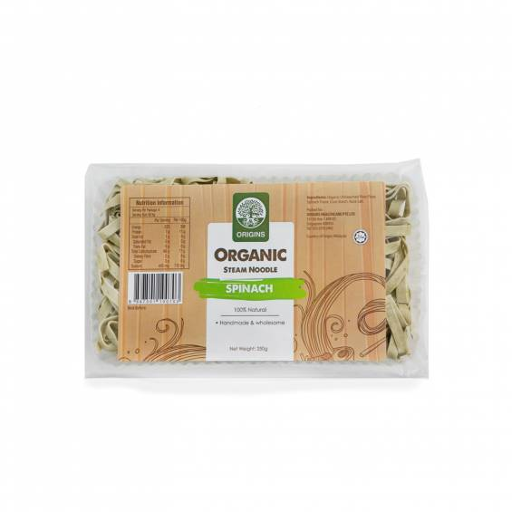 ORGANIC STEAM NOODLE SPINACH