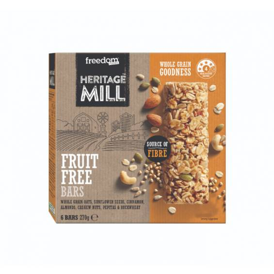FREEDOM HERITAGE MILL FRUIT FREE BARS 6'S X 45G